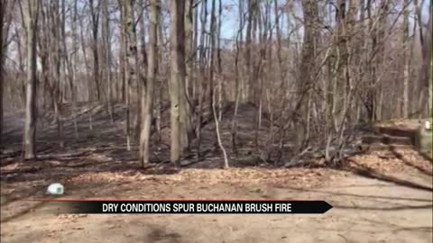 Fire near Oak Forest and Curran roads in Buchanan extinguished