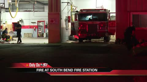 Fire starts at South Bend fire station causing damage