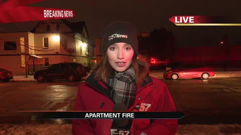Firefighters investigating South Bend apartment fire