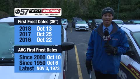 When do we see the first frosts & freezes?