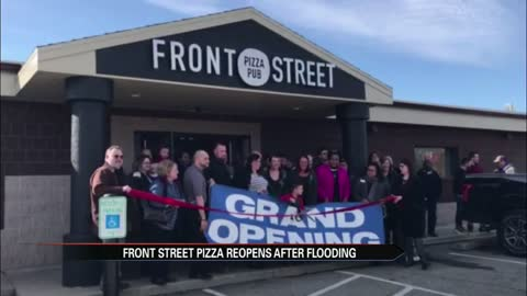 First Niles business damaged in flood reopens