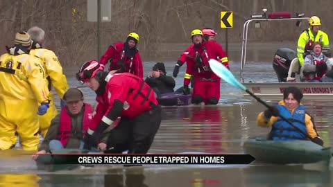 First Responders rescue homeowners during mandatory evacuation