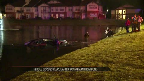 First responders speak after saving man who drove into Mishawaka pond