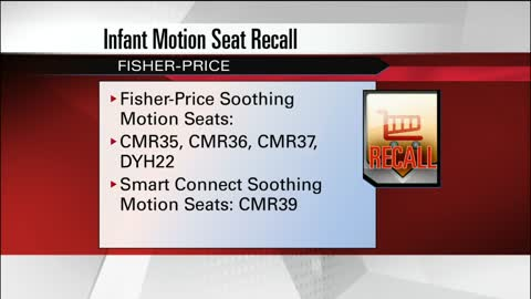 Fisher-Price recalls infant motion seats
