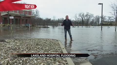 Flooding concerns at Lakeland Hospital in Niles