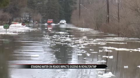 Standing water on roads impacts dozens in Royalton Township