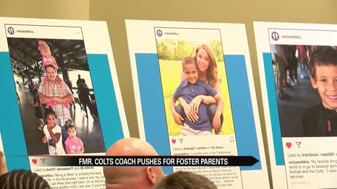 Fmr. Colts coach pushes for more foster parents