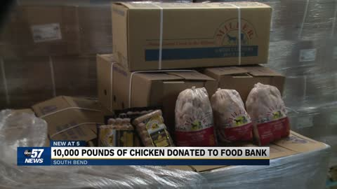 Food Bank of Northern Indiana to receive donation of 10K pounds...