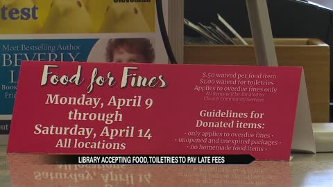 Elkhart Public Library accepts donations for late fees