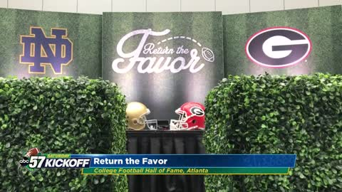 Football legends prepare for Notre Dame vs. Georgia game