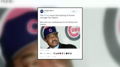 Former Cubs manager Don Baylor dies