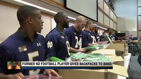 Former football player shows appreciation for Notre Dame marching band