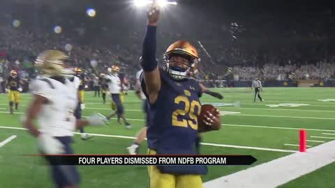 Four Notre Dame football players removed from program