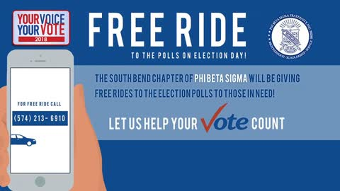South Bend fraternity chapter offering free rides to the polls for voters