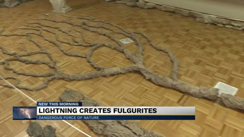 Fulgurite is lightning's work of art
