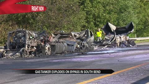 Gas tanker explosion on bypass