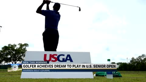 Golfer achieves dream of playing in US Senior Open