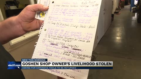 Goshen business loses an estimated $30,000 in tools after burglary