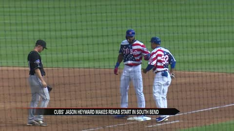 Heyward to rehab again Monday with South Bend Cubs; goes 1-1 Sunday