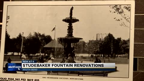 Historic Studebaker Fountain moving to Leeper Park
