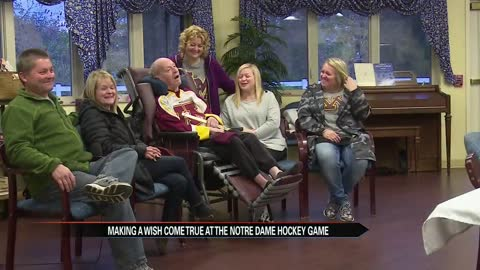 Hospice patient and hockey champion returns to the ice