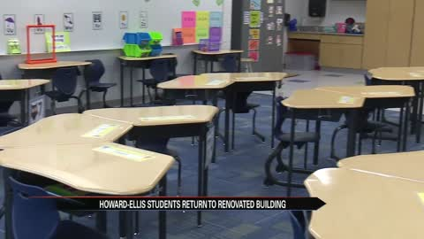 Howard-Ellis Elementary students return to newly renovated school
