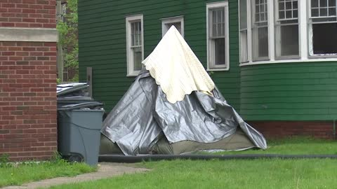 Human waste thrown on homeless couple's tent