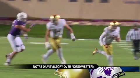 Notre Dame beats Northwestern 31 to 21