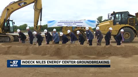 Indeck Niles energy center groundbreaking