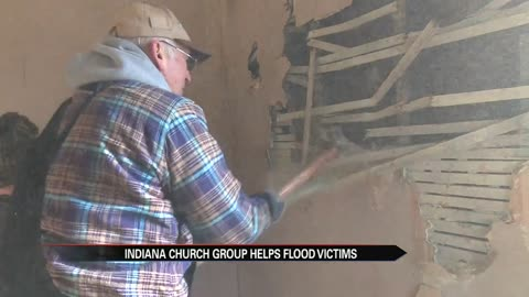 Indiana church group helps flood victims