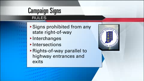 INDOT warns of prohibited locations for campaign signs