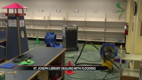 Infrastructure problems flood St. Joe Library children's dept.