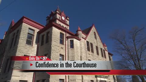 Inside the old Cass County Courthouse
