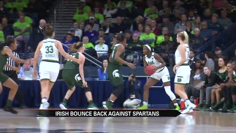 Notre Dame women bounce back with blowout win over Spartans