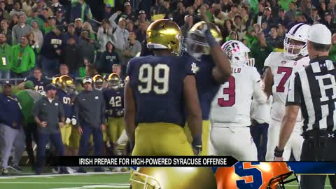 Irish defense ready for challenge against high-scoring Syracuse