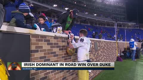 Irish dominant in road win over Duke