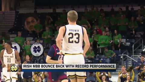 Irish MBB bounce back with record night