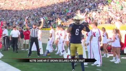 Irish receiver St. Brown declares for NFL Draft