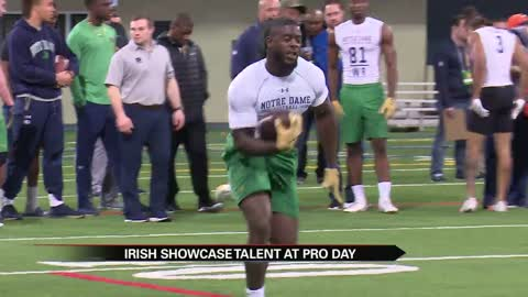 Irish showcase talent at Pro Day
