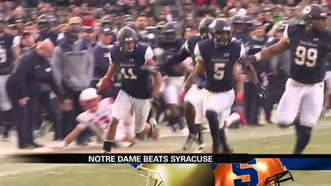 Notre Dame steamroll Syracuse at Yankee Stadium to stay undefeated