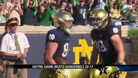 Irish survive another fourth quarter scare to beat Vanderbilt