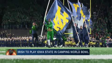 Notre Dame football to meet Iowa State in Camping World Bowl