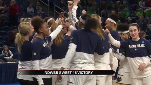 ND WBB beats Texas A&M, returns to Elite 8