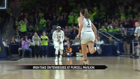 Irish women's hoops complete largest comeback in program history to top Tennessee