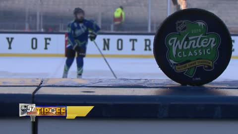 Irish Youth Hockey takes center stage on ice at Notre Dame Stadium