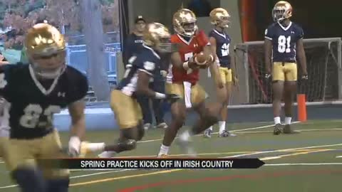 Irish begin spring practice, bring new energy
