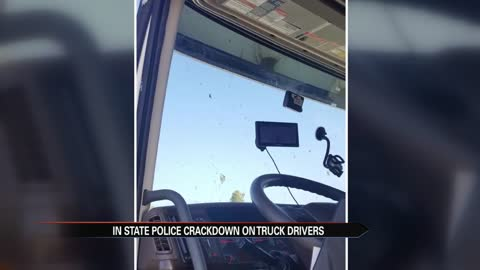 ISP cracking down on truckers with low windshield mounts