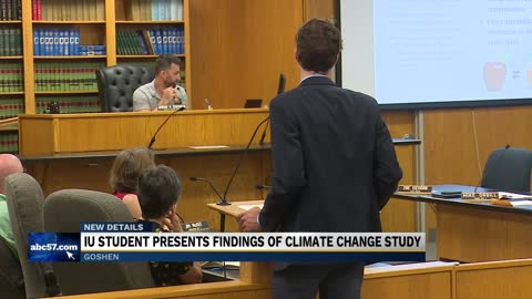 IU student presents findings of Goshen climate change study