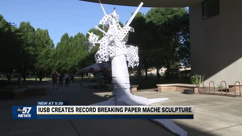 IUSB Arts Club sculpture breaks a Guinness world record