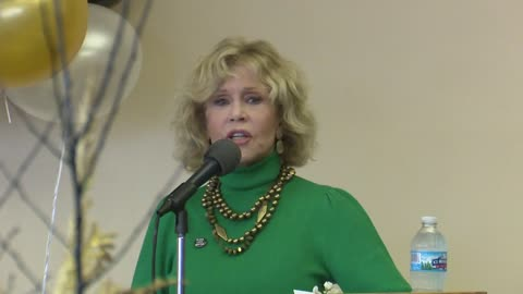 Jane Fonda and Patrisse Cullors rally Benton Harbor crowd in a get out the vote effort